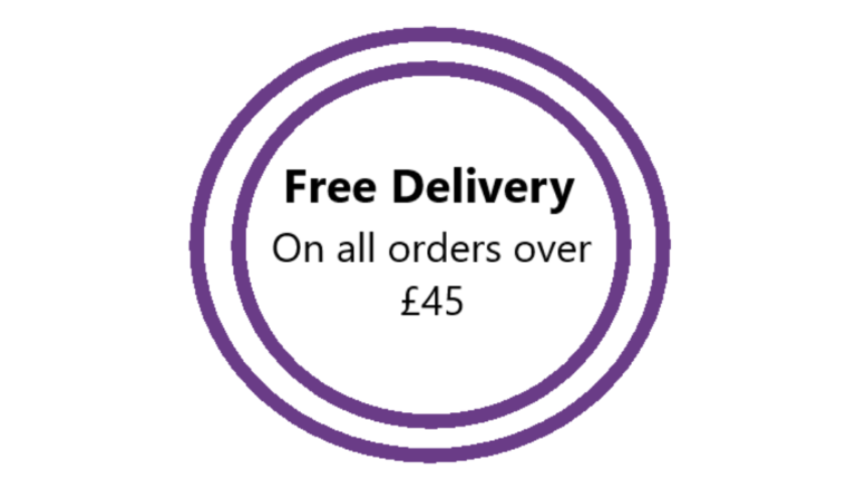 Free Delivery On All Orders over £45
